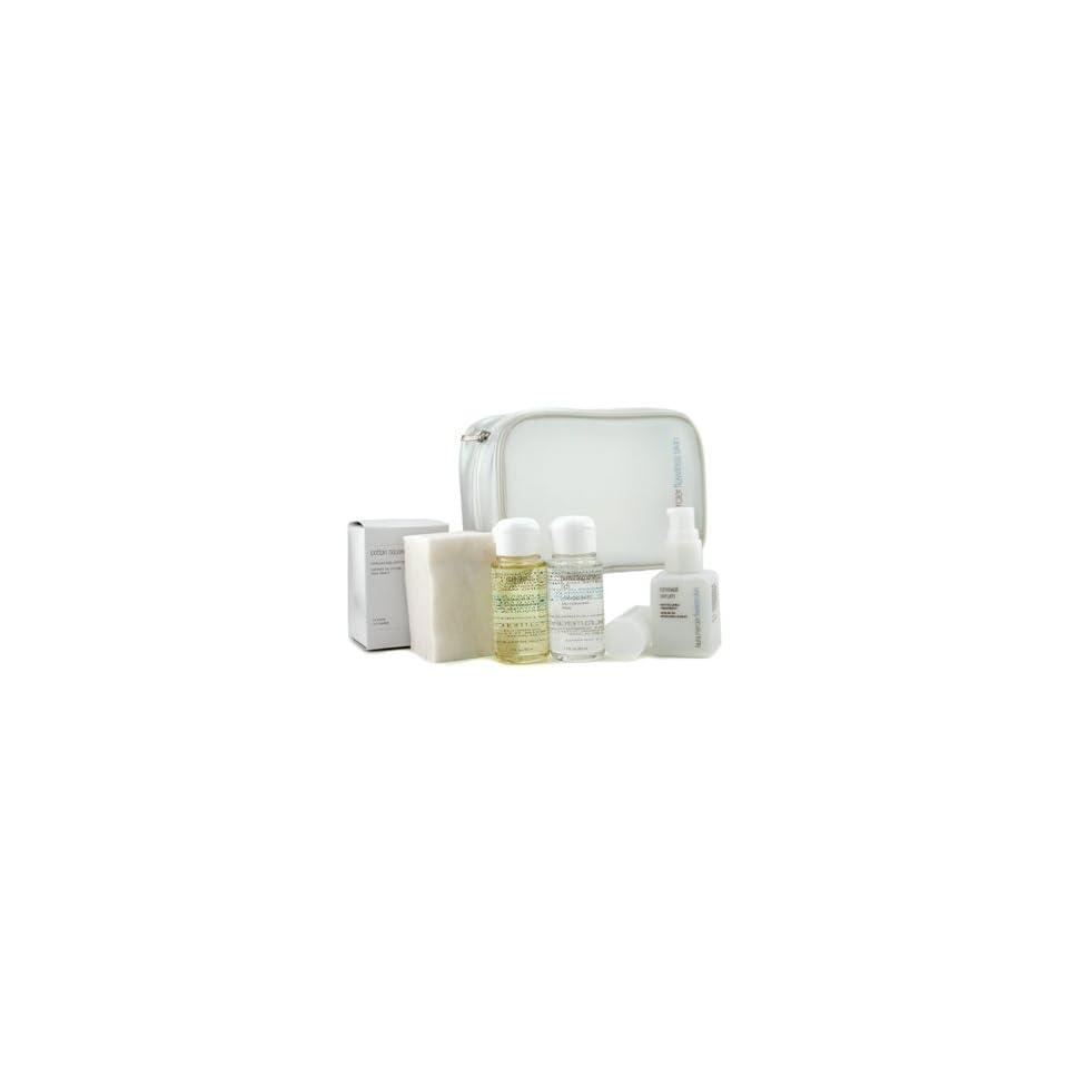 Skincare Travel Set Rich Purifying Oil + Perfecting Water + Renewal Serum + Cotton Squares   4pcs+1bag