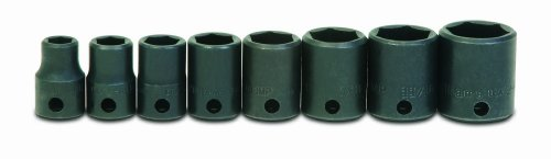 Jh Williams Ws-2-13 13-Piece 3/8-Inch Drive Shallow 6 Point Impact Socket Set