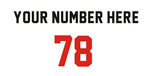 Pre-Spaced Numbers,Sports Number,Hockey Helmet,Heat Transfer Vinyl,iron on Heat Transfer (1 color, 10 inch) (Adhesive Jersey Numbers compare prices)
