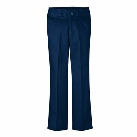 Dickies Kp7715 Junior'S Stretch Wide Band Bootcut Pant Desert Sand Size 7