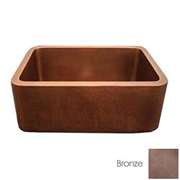 Whitehaus Copperhaus Copper Kitchen Sink WH2519COFC-B Bronze