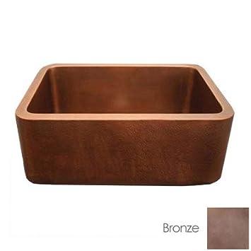 Whitehaus Copperhaus Copper Kitchen Sink WH2519COFC-B Bronze