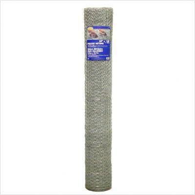 G & B 308421B 36-Inch x 50-Foot 1-Inch Galvanized Mesh Hexagonal Poultry Netting