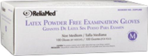 ReliaMed Non-Sterile Powder-Free Latex Examination Gloves Small (100/Box) (Box of 100 Each)