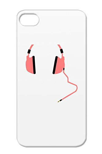 Music Hip Hop Headphones Head Phones Beats By Dre Red Headphone Pinkblk For Iphone 4/4S Case Cover