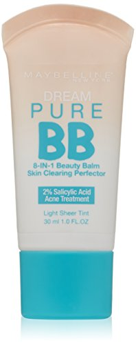 Maybelline New York Dream Pure BB Cream Skin Clearing Perfector, Light, 1 Fluid Ounce