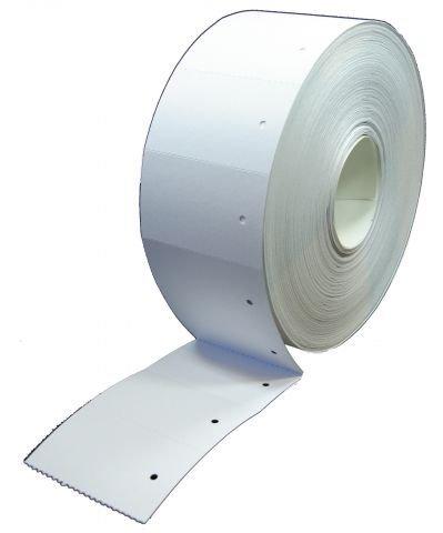 Étiquettes en carton en rouleau blanc (3.000 étiquettes en carton 30 x 50 mm