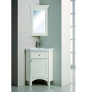 Meuble d 39 angle de salle de bain paraiso blanc - Amazon meuble salle de bain ...