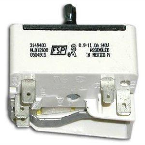 "New Genuine Oem Whirlpool Stove/Oven/Range 8"" Surface Burner Infinite Switch - Part # 66004-38Af"