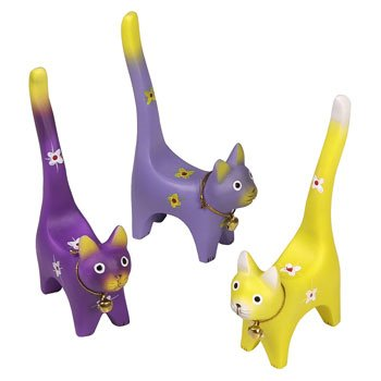 Cat Ring Holders, Set of 3