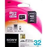 ORIGINAL SONY 32GB MICRO SD MEMORY CARD-CLASS 4+ADAPTOR+ BILL+5 YR SONY WARRANTY