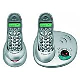 BT Studio 1500 DECT Cordless Phone with Answering Machine - Twin Pack - Metallic Silver