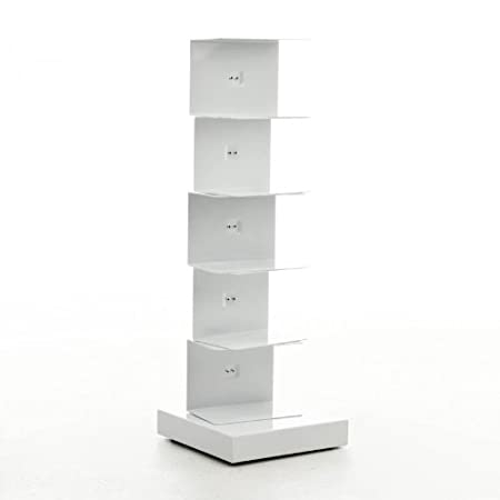 Ptolomeo Book Stand 75 white/base white laquered/75cm/capacity approx 35 volumes