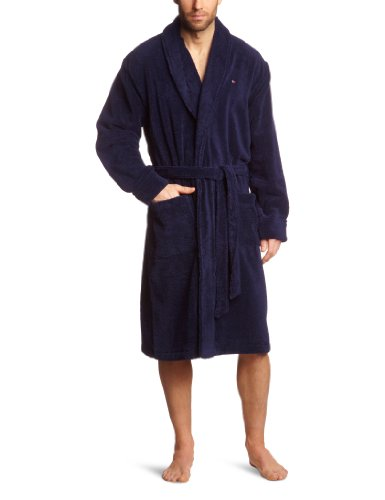 Tommy Hilfiger Herren Bademantel Ben Bathrobe / 2S87902285, Gr. 54 (XL), Blau (409 Peacoat)
