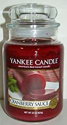 1 X Cranberry Sauce 22 oz ounce Yankee Candle by Yankee Candle