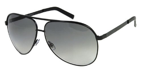 GUCCI BLACK AVIATOR SUNGLASSES GG 1827