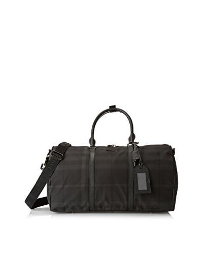 Burberry Men's Plaid Weekender Bag, Black