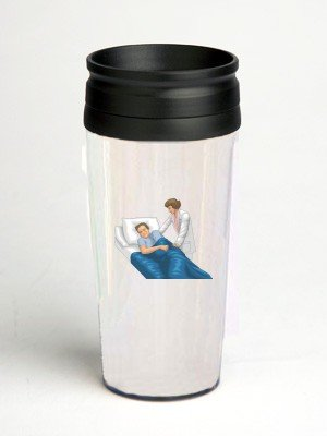 16 oz. Double Wall Insulated Tumbler with patient turning in bed - Paper Insert