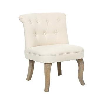 Kleiner Sessel - Leinen - Beige