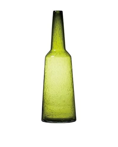Torre & Tagus Tower Glass Vase, Green