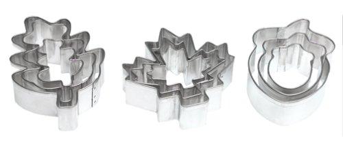 Wilton Leaves and Acorns 9-Piece Aluminum Cookie Cutter Set