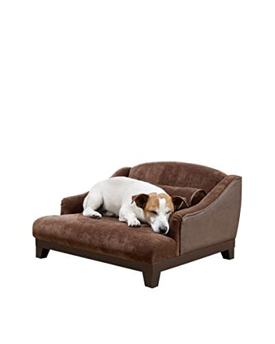 Enchanted Home Pet Madison Velvet Pet Sofa, Brown Velvet