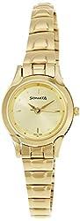 Sonata Analog Champagne Dial Womens Watch - 8098YM02