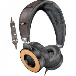 The House of Marley EM-FH023-HA Redemption Song OE-Freedom On-Ear Headphone with Three-Button Apple Mic