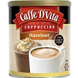 Caffe D'Vita Hazelnut Cappuccino, 1-Pound Cans (Pack of 6) (Tamaño: 16 Oz (Pack of 6))
