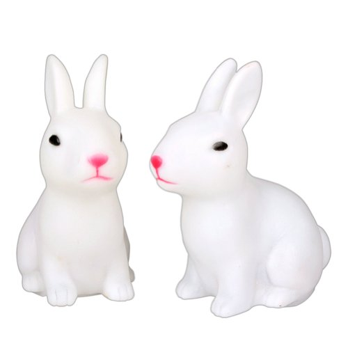 2013Newestseller 2 Pack Of Cute Rabbit Led Changing 7 Colours Night Lamp Light Kids Room Decoration Bedside Lamp front-67438