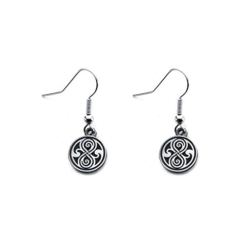 Doctor Who Seal of Rassilon Engraved Dangle Earrings (Doctor Who Seal Of Rassilon Ring compare prices)