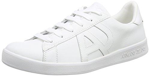 Armani Jeans06565YO - Scarpe stringate Uomo , Bianco (Weiß (BIANCO - WHITE 10)), 44.5