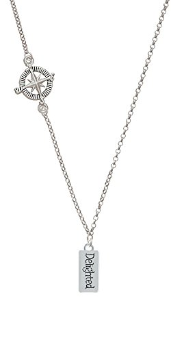 Delighted Rectangle Delicate Compass Necklace