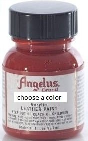 Angelus Brand Acrylic Leather Paint Water Resistant 1 oz - Select Your Color