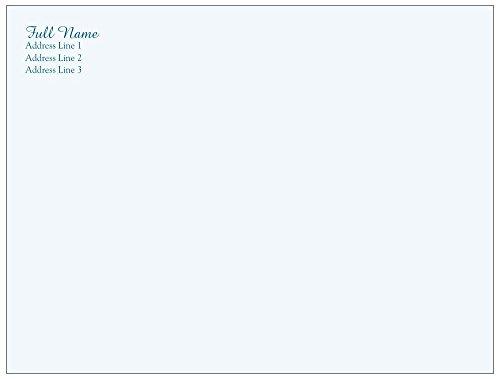 Vistaprint Blue Christening Gown A-2 Envelopes (5.75X4.33) front-701899