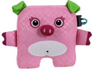 INKOOS Mini PINK PIG with GREEN EARS