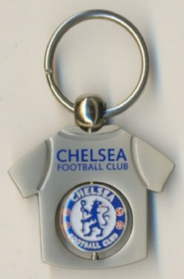 Chelsea FC Official Metal T-Shirt Spinning Keyring