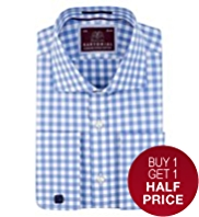 Sartorial Luxury Pure Cotton Gingham Checked Shirt