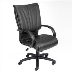 Boss Office Furniture B9701/9702 Modern LeatherPLUS Executive Chair with Dracon Filled Cushions