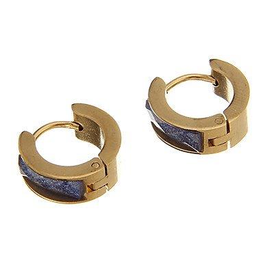 Vintage Diamanted Golden Shinning Alloy Stud Earring(1 Pair) Purple