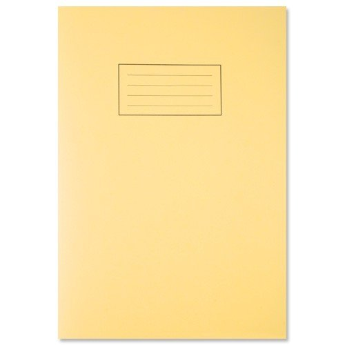 silvine-exercise-book-ruled-and-margin-80-pages-a4-yellow-ref-ex109-pack-of-3