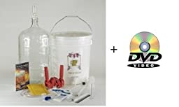 Gold Complete Beer Equipment Kit (K6+) plus with 6 Gallon Glass Carboy with Auto Siphon