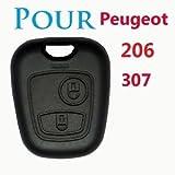 FACADE DEMI COQUE CLEF CLE PLIP POUR PEUGEOT SPECIAL 206 307 2 BOUTONS VALEO