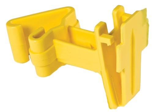 Red Snap'R Itty-Rs Yellow T Post Tape Insulator, 25 Count