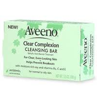 Aveeno Clear Complexion Cleansing Bar, 3.5-Ounce Bars (Pack of 8)
