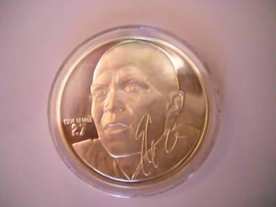 1 oz 999 Silver round Eddie George #27 Tennessee