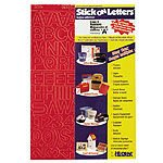 Adhesive Letters and Numbers - 3 Inch Helvetica Red - 1