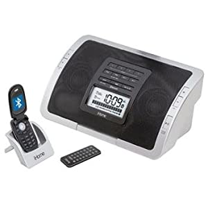 31GBI0W8rwL. SL500 AA300  iHome iHC5 Wireless Bluetooth Clock Radio for Cell Phones, iPods, and MP3 Players (Black)   $20