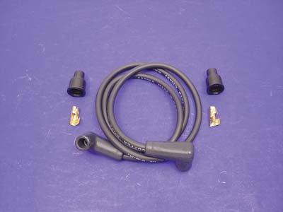 V-Twin 32-0696 - Black Copper Core 7mm Spark Plug Wire Kit (Spark Plug Wire Mount compare prices)