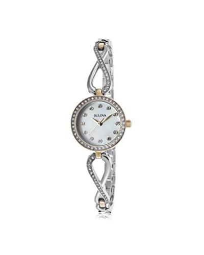 Bulova Women's 98X109 Silver-Tone/White Stainless Steel Watch